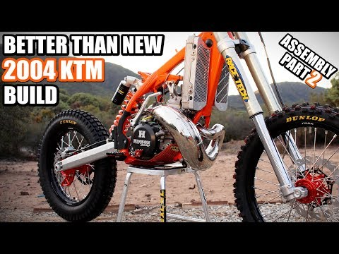 KTM 300 build part 19: Dirt bike assembly continues,we are getting closer ;)