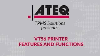 How to use the ATEQ VT56 printer - functions and features