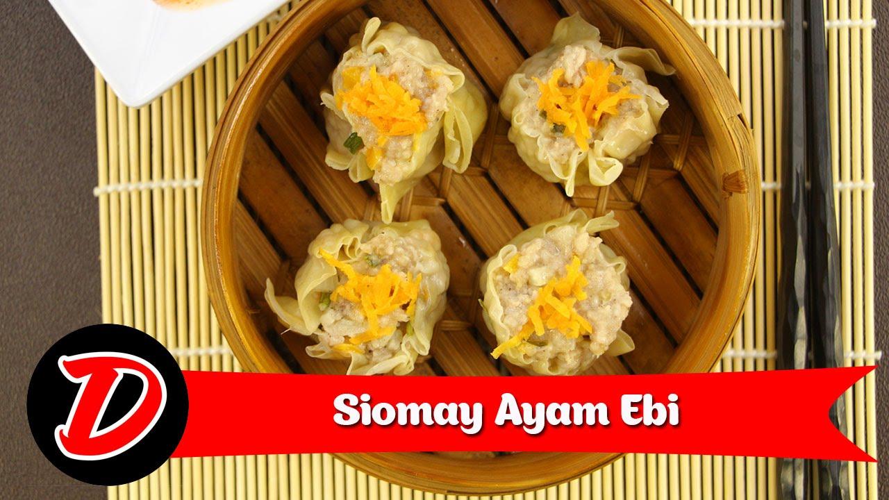 Resep & Cara Membuat Siomay Ayam Ebi - YouTube