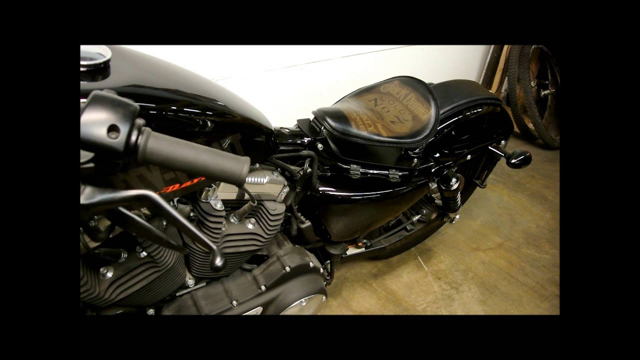 2010 2013 Harley Sportster Jack Daniel Leather Tattoo Spring Solo Seat P Pad And Seat Mounting