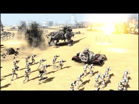 MASSIVE CLONE ASSAULT - Star Wars: Galaxy at War Mod Gameplay