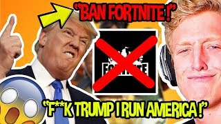 STREAMERS REACT TO FORTNITE GETTING *BANNED* SHOCKING NEWS *EPIC RESPONDS* | Fortnite Funny Moments
