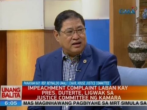 UB: Panayam kay Rep. Reynaldo Umali, chair, House Justice Co