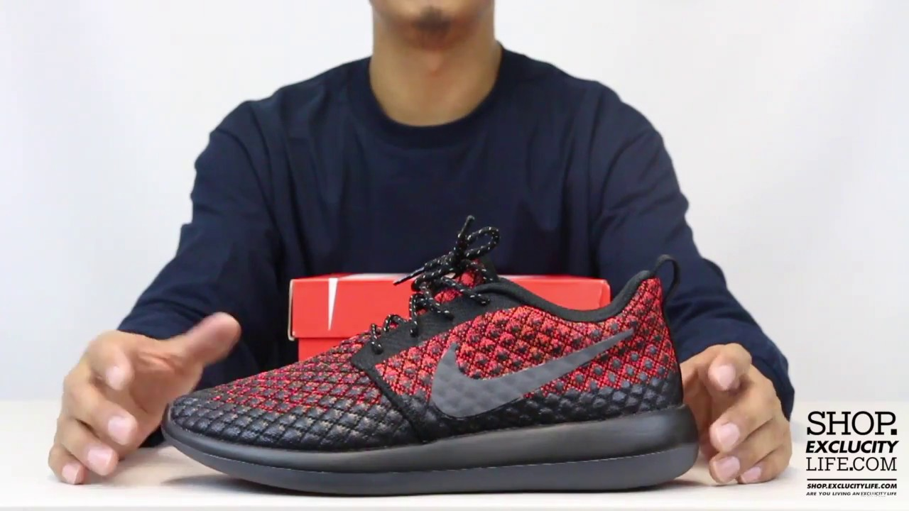 3e7e9e70918 Nike Roshe Run 2 Flyknit 365 Bright Crimson Unboxing Video at Exclucity