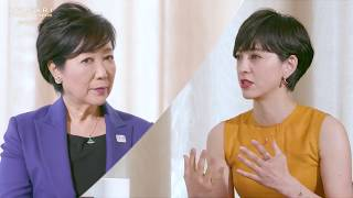 BVLGARI AVRORA AWARDS 2017 - Yuriko Koike X Christel Takigawa Conversation 滝川クリステル 検索動画 24