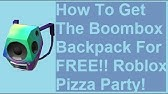 Como Poner Musica Boombox Backpack Roblox Event How To Get The Boombox Backpack Roblox Youtube