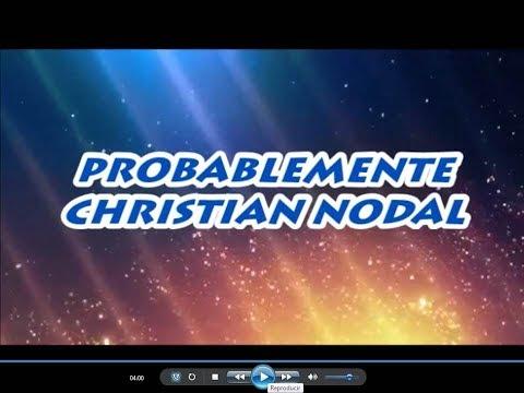 Probablemente - Christian Nodal - Karaoke Audio Full HD