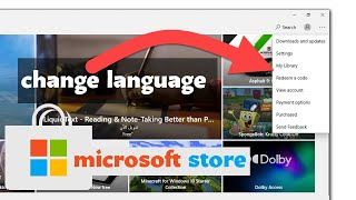 Changing the language of Windows 10 store