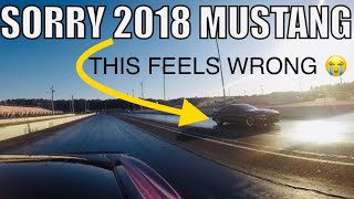 TUNED E85 2018 MUSTANG CHALLENGED ME TO RACE!