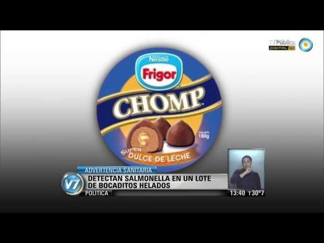 Visión 7: Detectan salmonella en un lote de bocaditos helados
