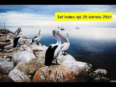 set index พุธ 25 เมย. THAI, DTAC, MONO, WORK, NETBAY, GOLD, VNT, PTTEP, TOA, KCE, IVL, TISCO