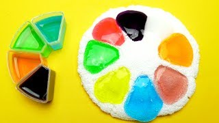 How To Make Color Slime Clay toy DIY Foam Clay
