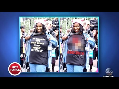 6d402d6b Whoopi SLAMS Photoshopped Donald Trump Shirt - The View - YouTube