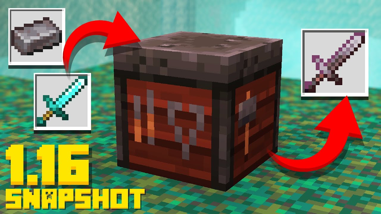 Minecraft 11.111 Snapshot SMITHING Table Update! Invisible Item Frames  (11w111a Nether Update)