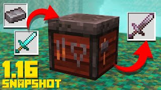 Minecraft 1.16 Snapshot SMITHING Table Update! Invisible Item Frames (20w10a Nether Update)