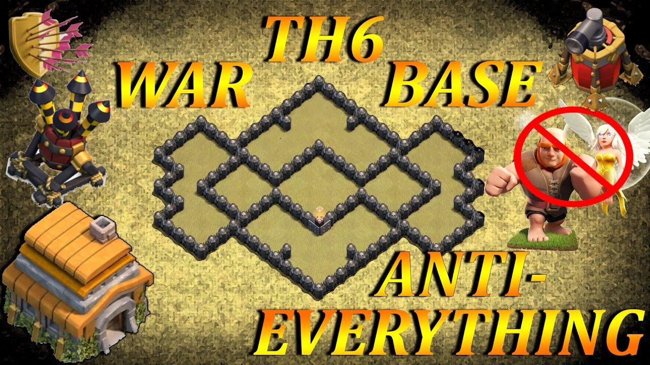 Coc Th6 War Base Base Th 6 Terkuat Anti Bintang 3 2018 11