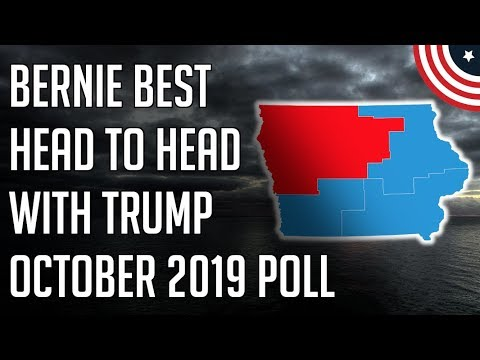 Bernie Tops Trump in Key Battleground State - Iowa Democratic 2020 Presidential Primary Polls