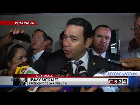 Presidente de Guatemala desmiente rumores sobre salida de la CICIG