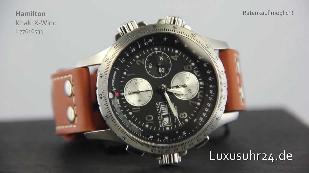 40d4a99a6bf Hamilton Khaki X-Wind H77616533 Luxusuhr24 Ratenkauf ab 20 Euro Monat -  YouTube