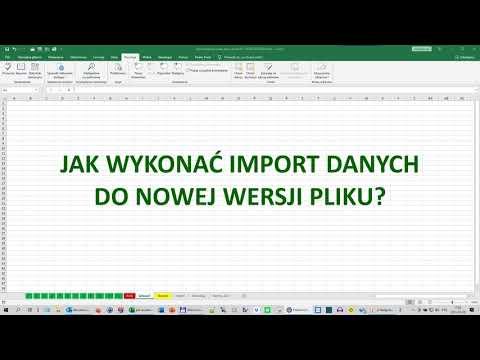 Jak wykonać import danych do nowej wersji arkusza?