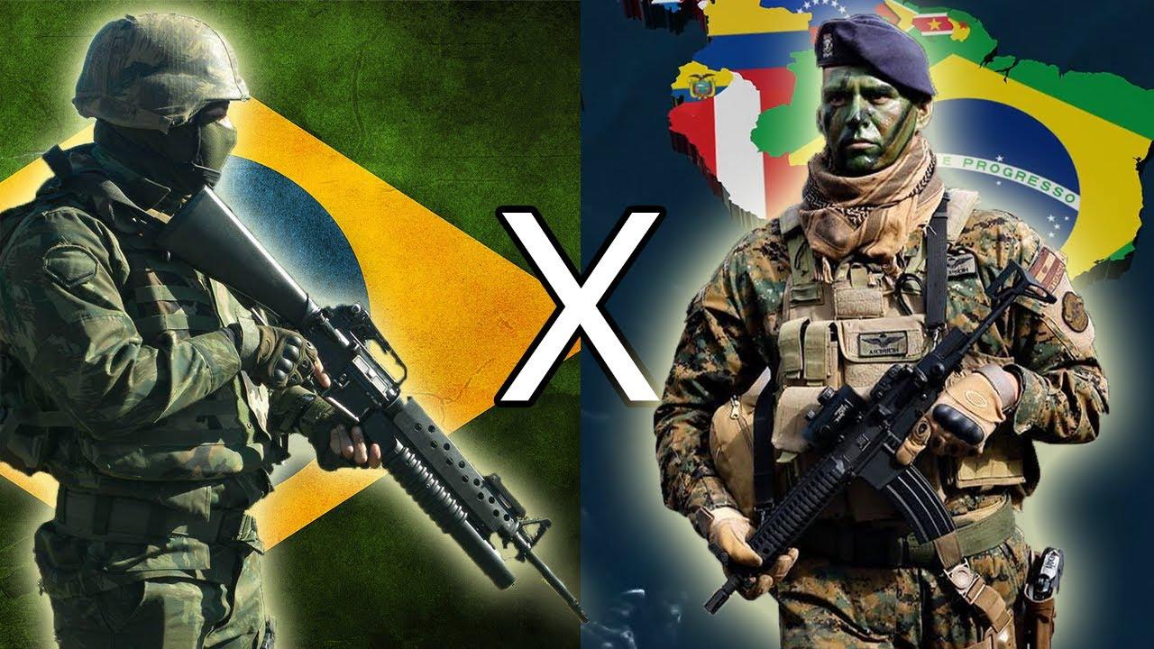 Brasil x America do Sul - Comparação Militar 2021