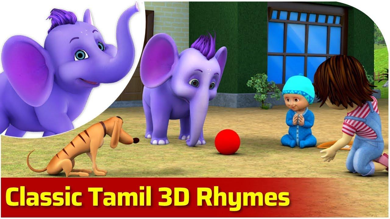 Classic Tamil 3D Rhymes | 4K | Appu Series