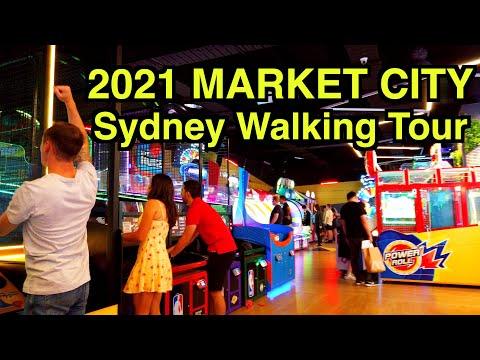 【4K】 🇦🇺🕹2021 Sydney Walking Tour   Market City   Timezone Haymarket   Australia