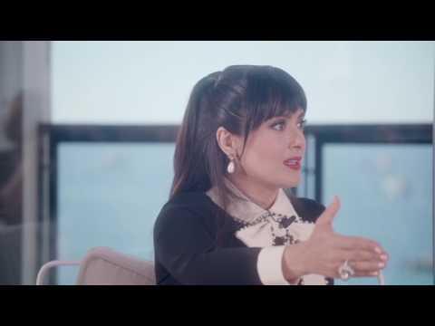 Salma Hayek reacts to Ariana Grande attack in Manchestar, UK - Cannes 2017