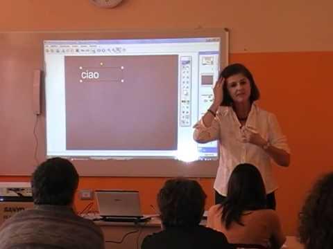 Esempio di lezione alla lavagna interattiva multimediale (LIM) - 1 di 2