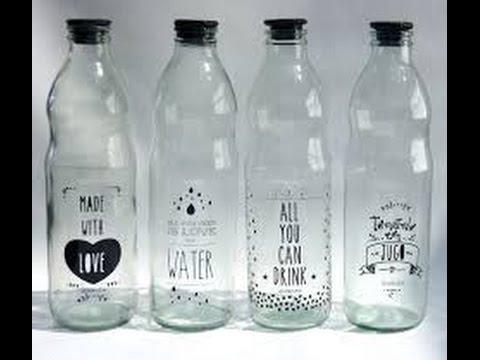 Como estampar frascos de vidrio youtube for Reciclar frascos de vidrio de cafe