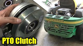 John Deere 757 ZTRAK PTO Clutch Replacement
