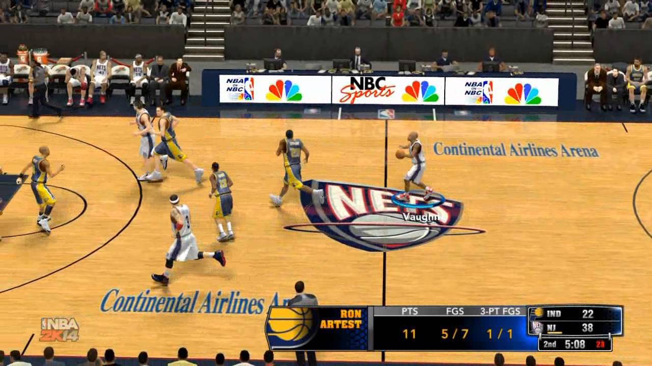cc2c24d1fb7 NBA 2K14  05 06 New Jersey Nets vs 03 04 Indiana Pacers (Old School Season  2 game 6)