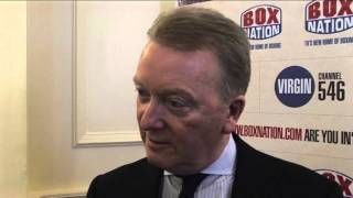 Frank Warren reacts to Eddie Hearn