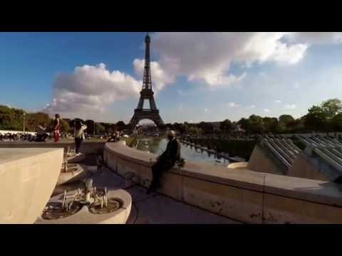 A Paris walk through the Trocadero to the Eiffel, 4K UltraHD