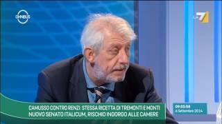 Omnibus - Camusso contro Renzi: stessa ricetta di Tremonti e Monti (Puntata 06/09/2014)