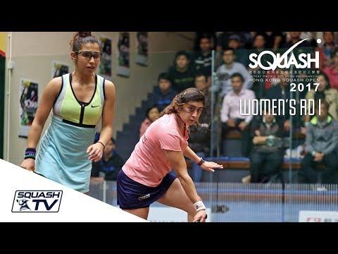 Squash: Hong Kong Open 2017 - Women's Rd 1 Roundup [Pt.1]