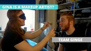 GIRLFRIEND DOES MY MAKE UP BLINDFOLDED?! | TEAM GINGE