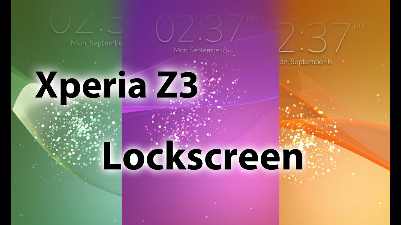 xperia z3 lockscreen app on any android device youtube. Black Bedroom Furniture Sets. Home Design Ideas