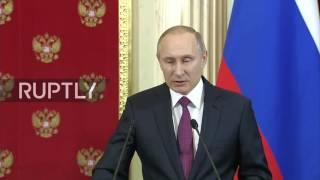 Russia: Vladimir Putin comments on Trump