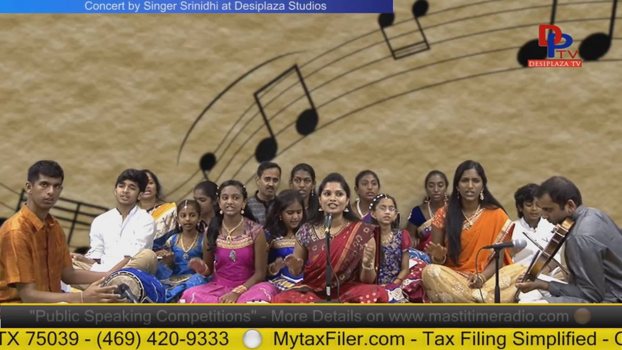 Part 7.Srinidhi & her students giving Carniatic music concert at Desiplaza studio,Irving,Texas