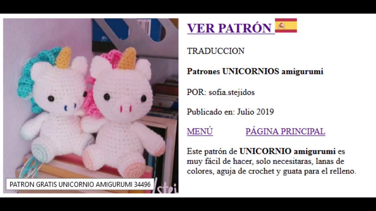 Patrón unicornio amigurumi patrón unicornio crochet patrón | Etsy | 720x1280