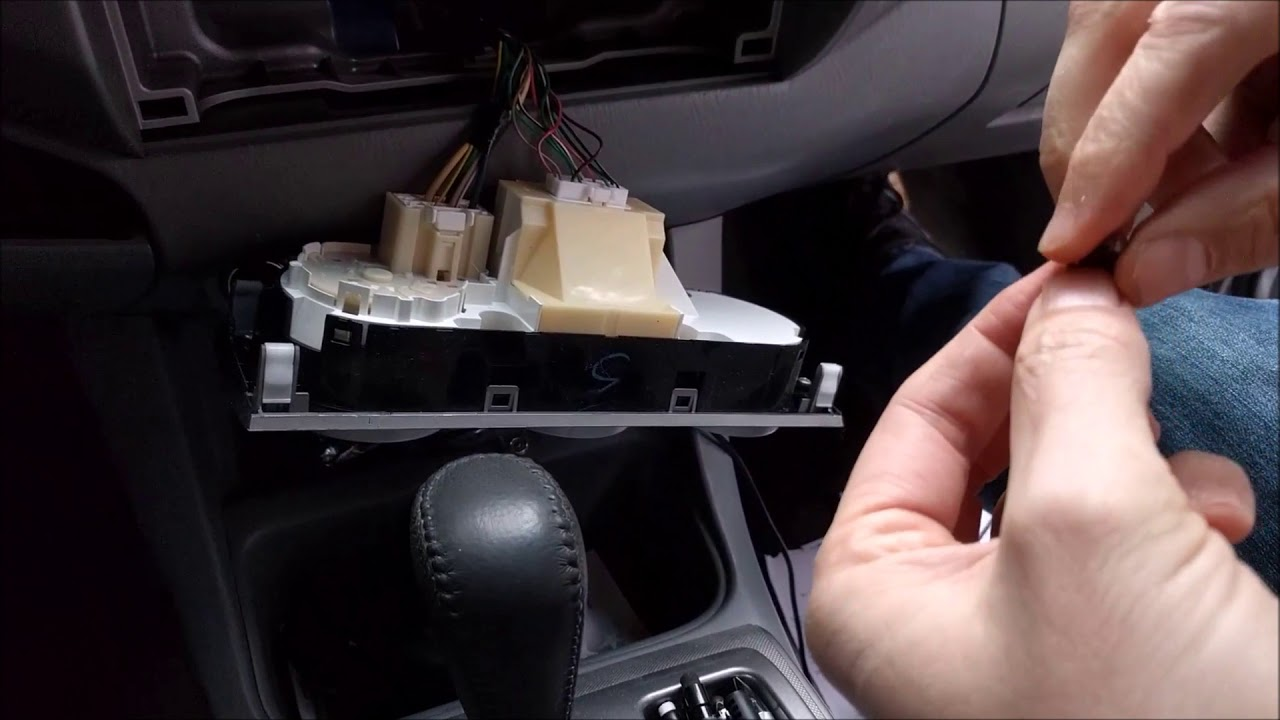 Replacing Lights In Climate Control Panel Toyota Tacoma Youtube