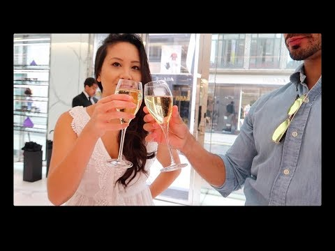 VLOG: Bond Street Shopping Spree!! Champagne & Luxury Shopping