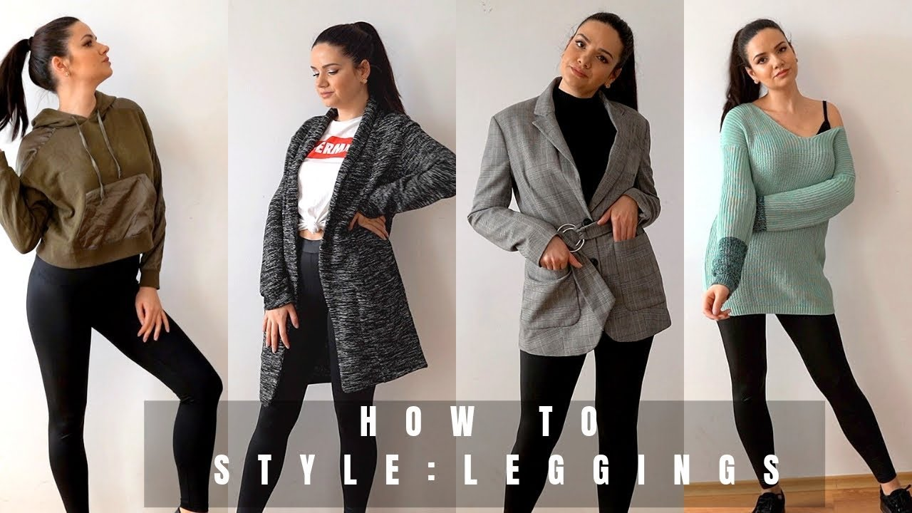 557278c2fd095a 7 WAYS TO WEAR LEGGINGS SPRING 2019 | How to style leggings - YouTube