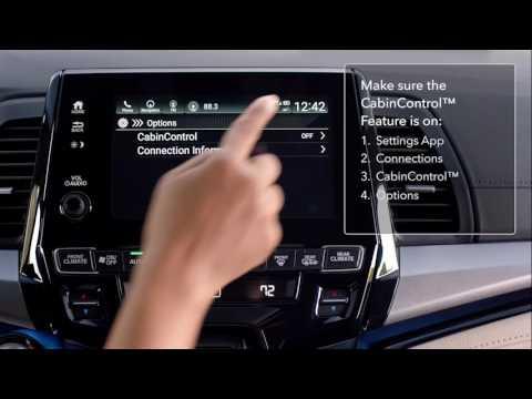 How to Set Up the CabinControl™ App – 2018 Honda Odyssey