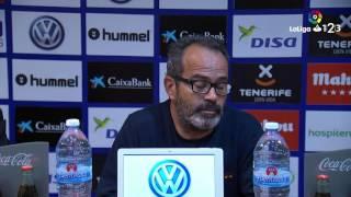 Rueda de prensa de Álvaro Cervera tras el CD Tenerife vs Cádiz CF (1-1)