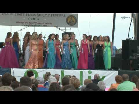 Miss Shrimp Festival Contestants Dance to Singing in the Rain