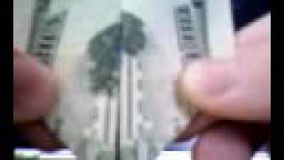 $20 Bill. Twin Towers Burning.