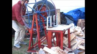 """The Wheel of Debt"" Wood Splitter"