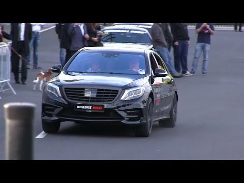 Brabus CEO Blasting The Brabus 850 6.0 Biturbo S63 AMG On The Brabus HQ Parking